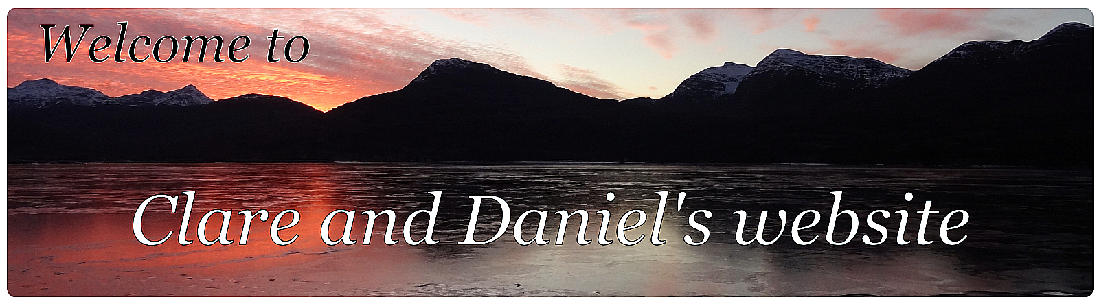 Welcome to Clare and Daniel's website